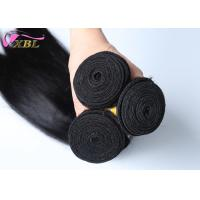 Soft And Smooth Straight Brazilian Virgin Hair Weft Natural Black Without Tangle