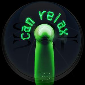 China LED Flashing Message Fan on sale