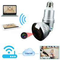 EAZZYDV HD960P Wireless P2P  Bulb Hidden  IP Camera with LED Light and Remote Control (two Color : Golden /Silver)