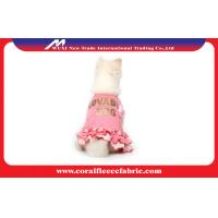 China Pink Knitted Denim Cute Pet Clothes for Princess Girl Dog Dress , OEM Pet Apparel on sale