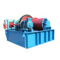 China 0 - 30m / Min Electric Wire Rope Winch Machine Engine Powered Cable Puller Heavy Duty on sale