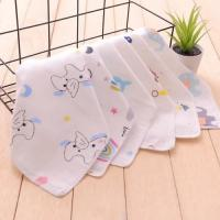 Printed Newborn Baby Napkins 100 Cotton Easy Wash Customized Carton Size Manufactures