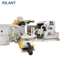 Uncoiler Feeding Leveling Steel Coil Cutting Machine , Fast Automatic Cut To Length Machines Manufactures