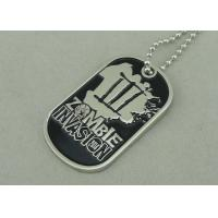 Nickel Double Side Police Personalised Dog Tags Die Stamped Soft Enamel Manufactures