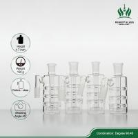 Beaker Bong Clear Glass Ash Catcher 90 Degree 14.4mm Female - 14.4mm Male Manufactures