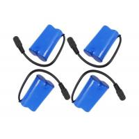3.7V 5200mah Rechargeable Battery Pack 18650 1S2P With Blue Heat Shrink Tube Manufactures