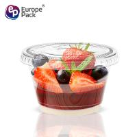 China Factory direct 120ml PET plastic pudding jelly cup with flat lid on sale
