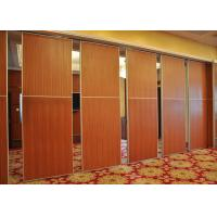 Red Fireproof Partition Wall Acoustic Diffuser Panels For Exhibition Halls Manufactures