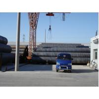 Hot Rolled SAW Spiral Welded Steel Pipe Round Q195 / Q215 For Water Supply Manufactures