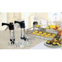 China Handy Syringe Cookie Press Gun Stainless Steel Biscuit Making Machine With 8 Kinds Syringe on sale