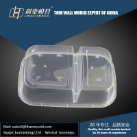China 1000ml professional plastic thin wall double compartment lunch box mould making on sale