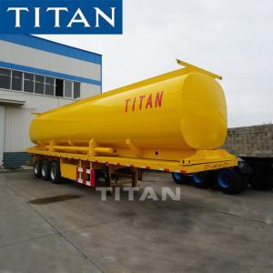 TITAN Diesel and Gasoline Tank Semi Trailer 40000 Liter Volume Manufactures