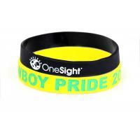 Personalized Sports Silicone Wristbands For Office , Party Non Toxic Manufactures
