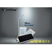 China Automatically Solar Powered LED Parking Lot Lights No Wiring 115LM / W on sale