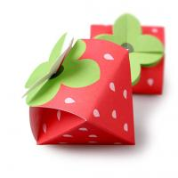 Strawberry Shaped Paper Candy Box Packaging Custom Design Printing Logo Manufactures