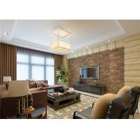 3D Brick Green Plants Pattern Contemporary Wall Covering For TV Background Manufactures