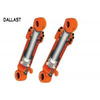 China Double Acting Hydraulic Cylinder Franged High Pressure For Excavator on sale