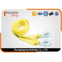 50mm 3 Ton Vehicle Heavy Duty Webbing Straps / Snatch Tow Straps With Forged Hooks Manufactures