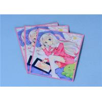 China 60 Pcs / Packing , White - Haired Girl Anime Card Cover Protector For Trading Card Sleeves on sale