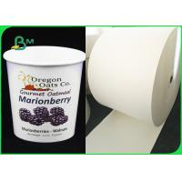 China Biodegradable White PLA / PE Coated Paper For Ice Cream Cups Eco - Friendly on sale