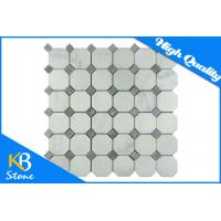 Carrara White Italian Carrera Marble Octagon Mosaic Tile Gray Dots 2 Inch Polished Manufactures