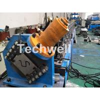 PLC Electrical Control Hat Profile Cold Roll Forming Machine With 1.5 Inch Chain Transmission Manufactures