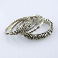 Iron Bangle Set with Vintage Style, Antique Bronze Plating, Suitable for Summer/Winter Manufactures