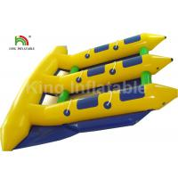 China 6 Person Seat Inflatable Flying Fish Tube Banana Boat For Summer Sport Water Game on sale