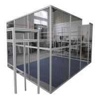 Quality Machine Protector Industrial Metal Production Line Fence Light Box Table for sale