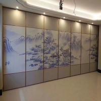 China Customized Movable Wall Folding Partition Walls Painted Different Pictures on sale