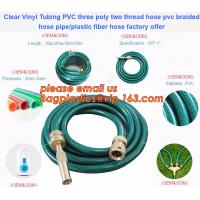 China Clear Vinyl Tubing PVC three poly two thread hose pvc braided hose pipe, plastic fiber hose factory offer on sale