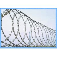 security fence with razor wire