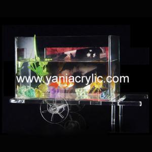 Beautiful Acrylic Laser Engraving Elegant Decorative Aquarium Fish Tank Displays For Home Manufactures