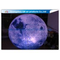China Giant Inflatable Lighting Decoration Ground Moon Ball With LED Lights wholesale