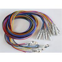 Colorful Eeg Electrode Cap With Colorful Eeg Lead Wires 10pcs / Set Manufactures