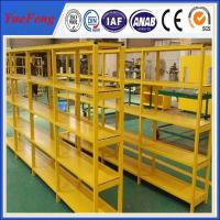 HOT! China factory oversea wholesales powder coated aluminum profiles for shelves Manufactures