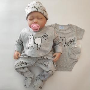 Summer Knitted Cute Newborn Baby Boy Clothes Unique Infants Clothes 5PCS Manufactures