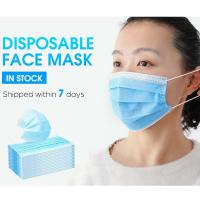 China Antibacterial Face Mask Surgical Disposable 3 Ply Non Woven Face Mask Latex Free on sale