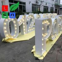 China Giant Illuminated Letters Company Event And Wedding Giant Number on sale