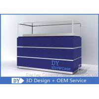 Wooden Blue Lacquer  Large Storage Jewellery Shop Display Counters Manufactures