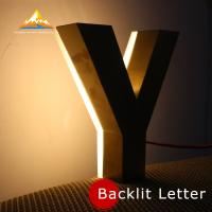 Stainless Steel Backlit Letter Sign Metal Luminous Advertising Letters Hot Sale Backlit Letter Sign Manufactures