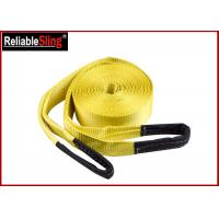 Orange Heavy Duty Lashing Straps Flat Belt With Loop Ends With Break Strength 15,000 Lbs Manufactures