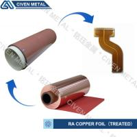 High Flexibility 25UM / 35UM / 50UM RA Copper Foil For Fine Circuit FPC Manufactures