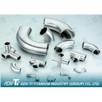 Sand blast / Polish Welded Pipe Fittings ASME B16.9 titanium elbow Manufactures