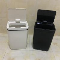 Automatic Motion Sensor Trash Can Two AA Battery Powered For Indoor / Office Manufactures