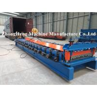 China Long Span Aluminum Roof Sheet Roll Forming Machine For 0.2mm Thickness Roof Panel on sale