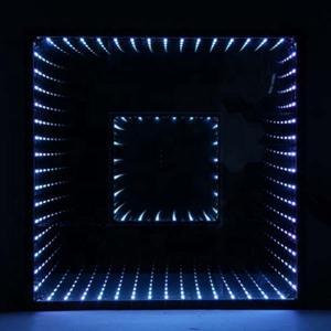 Waterproof RGB LED Light Dance Floor Nightclub 3D Time Tunnel Lighting Equipment