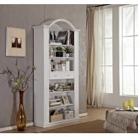 Tall Narrow Wooden Book Case With Sliding Drawer / Vaulted Roof / Adjustable Shelves Manufactures