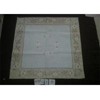 Poly Viscose Fabric Linen Hemstitch Tablecloth With Embroidery Technics Manufactures