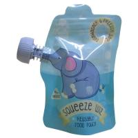 China Reusable Baby Food Spout Pouches Food Drink Juice Milk Container Sealable Bags on sale